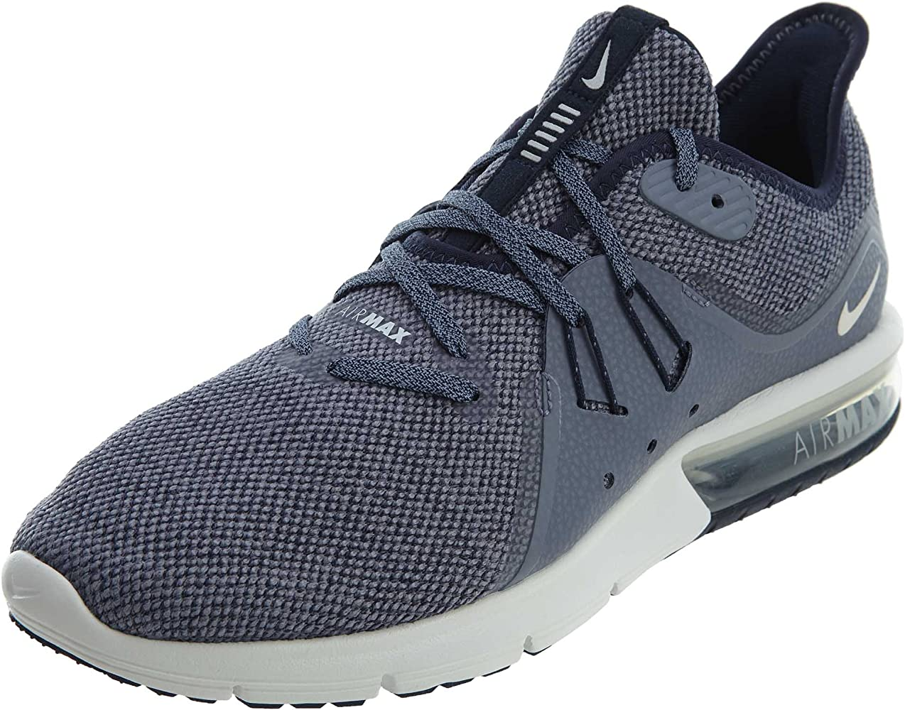 Mujer hermosa peligroso canal  Amazon.com | Nike Air Max Sequent 3 Men's Running (7, Obsidian/Summit  White) | Road Running