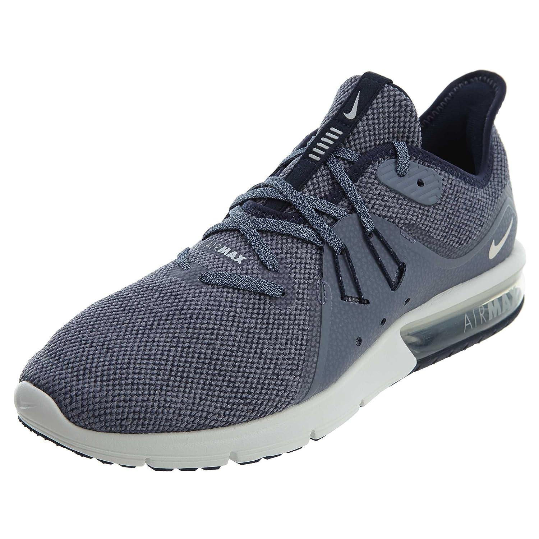 Nike Air MAX Sequent 3, Hausschuhe de Running para Hombre Grafito-Blau