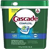Cascade Complete Actionpacs Dishwasher Detergent, Fresh, TZcAju 2 Pack(78 Count)