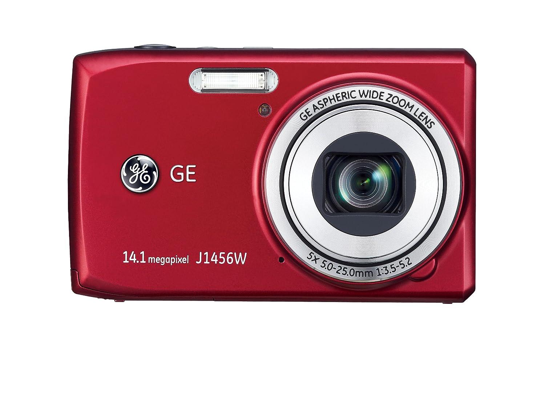 amazon com ge j1456w red 14 4 mp 5x optical zoom digital camera rh amazon com GE Digital Camera Repair GE Digital Camera Accessories