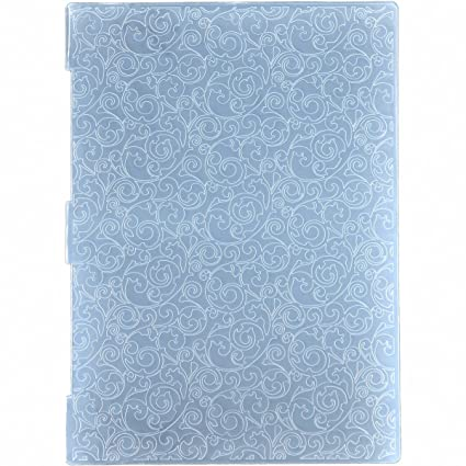 Amazon Com Kwan Crafts A4 Size Leaves Plastic Embossing Folders For
