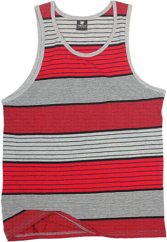 YAGO Mens Striped Tank Top