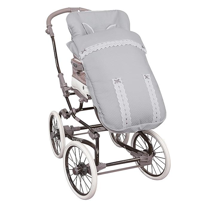 Saco de Bebé Universal Silla PIQUÉ ALTA GAMA GRIS + Cubre Arnés de regalo, desmontable, tejido trasero 3D: Amazon.es: Bebé
