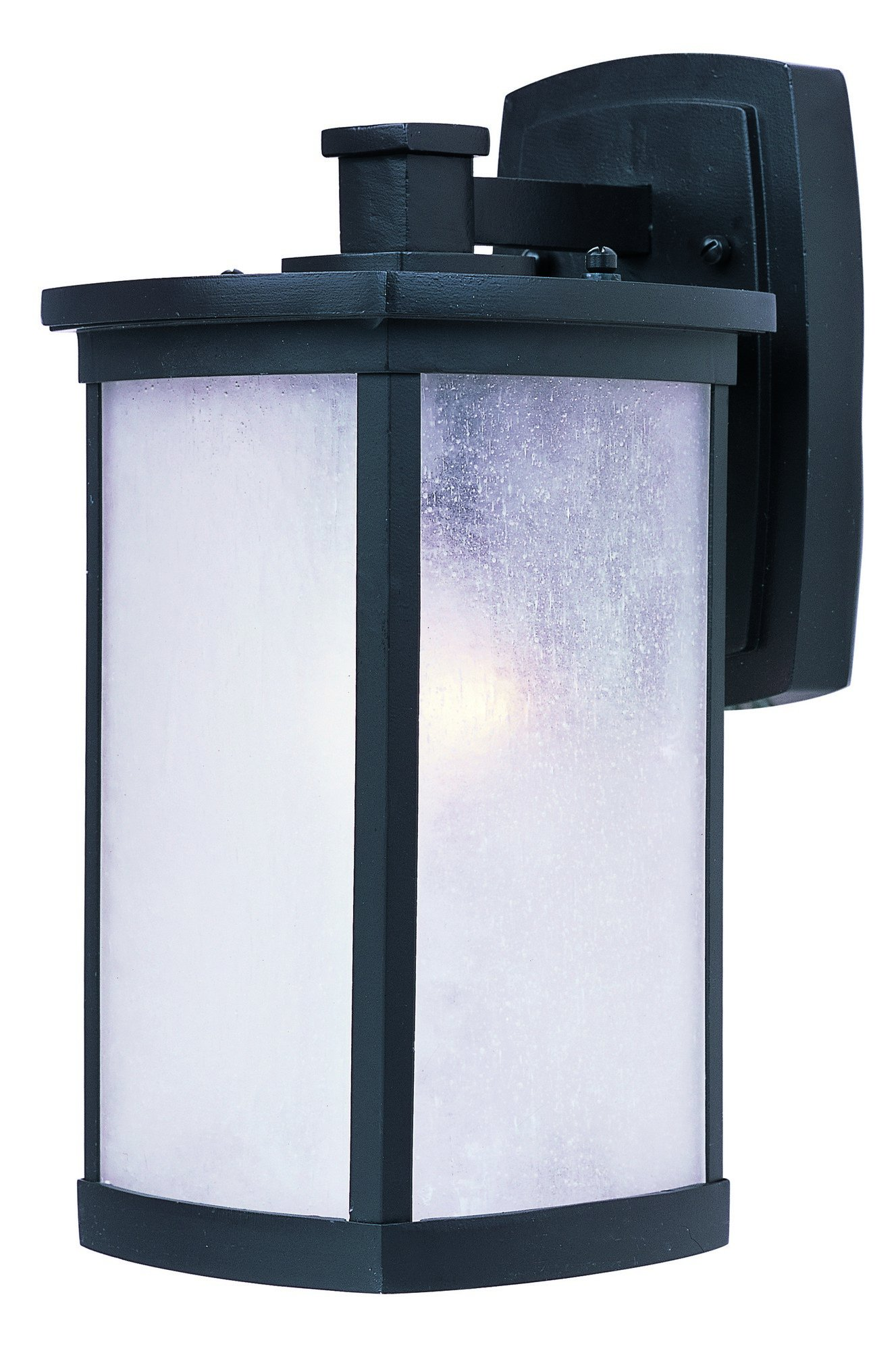Maxim 3253FSBZ Terrace 1-Light Medium Outdoor Wall, Bronze Finish, Frosted Seedy Glass, MB Incandescent Incandescent Bulb , 12W Max., Wet Safety Rating, Standard Triac/Lutron or Leviton Dimmable, Shade Material, 840 Rated Lumens