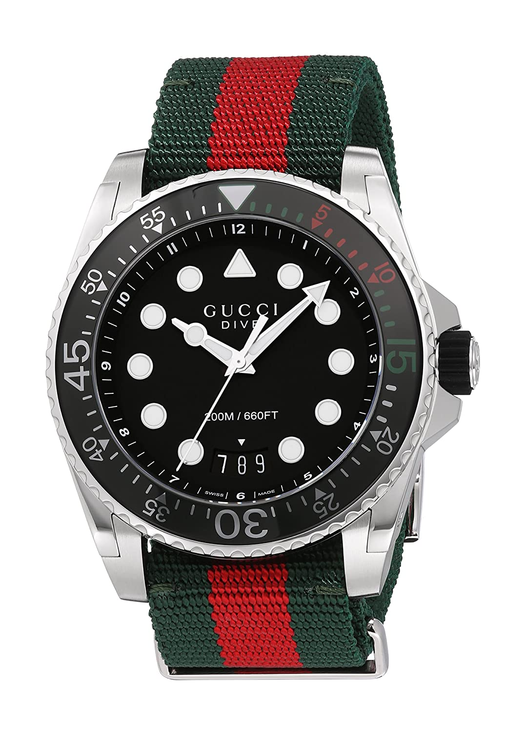 777481a3023 Swiss Quartz Stainless Steel and Nylon Dress Multi-Color Men s Watch(Model   YA136209. Gucci