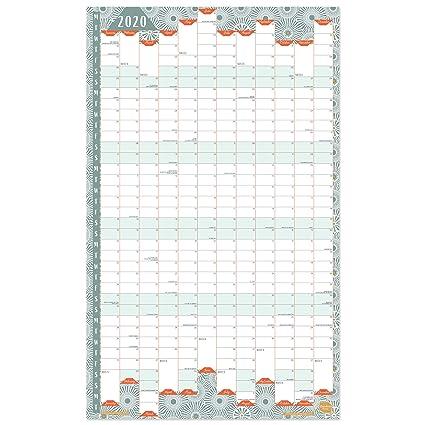 Calendario 2020 de Boxclever Press. Formato vertical calendario pared 2020. Planificador mensual para el Hogar o la Oficina. Incluye desde Enero 2020 ...