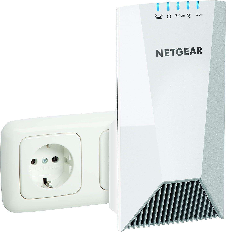 Netgear EX7500 Repetidor WiFi Mesh AC2200, amplificador WiFi triple banda, velocidad de hasta 2200 Mbps, compatibilidad universal