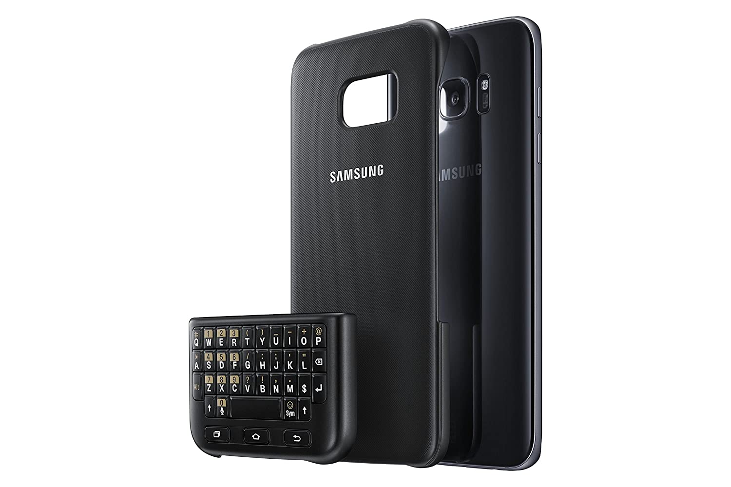Amazon.com  Samsung Galaxy S7 edge Keyboard Cover - Black  Cell Phones    Accessories a9e9d564a722