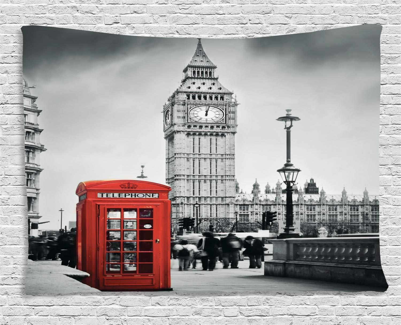 ABAKUHAUS Londres Tapiz de Pared, Cabina Telefónica Famosa y Big ...