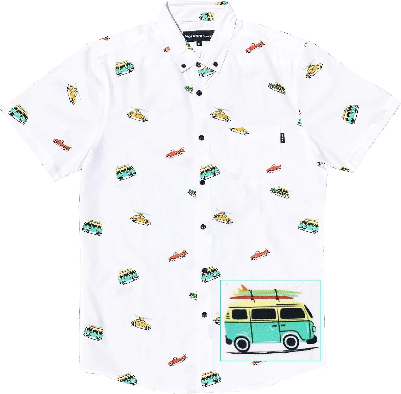 M MOLOKAI SURF - Camisas hawaianas de manga corta con botones - - 4X-Large: Amazon.es: Ropa y accesorios