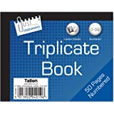 Just Stationery Half Size Triplicate Book Notebook