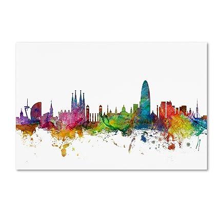 e7a4298d0 Amazon.com  Barcelona Spain Skyline by Michael Tompsett