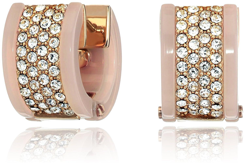 885c5f6b6331d Amazon.com: Michael Kors Jeweled Blush Rose Gold-Tone Hug Hoop ...