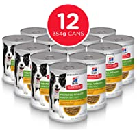 Hill's Science Diet Senior Wet Dog Food, Adult 7+ Youthful Vitality Chicken & Vegetables Stew Canned Dog Food, 354g, 12 Pack