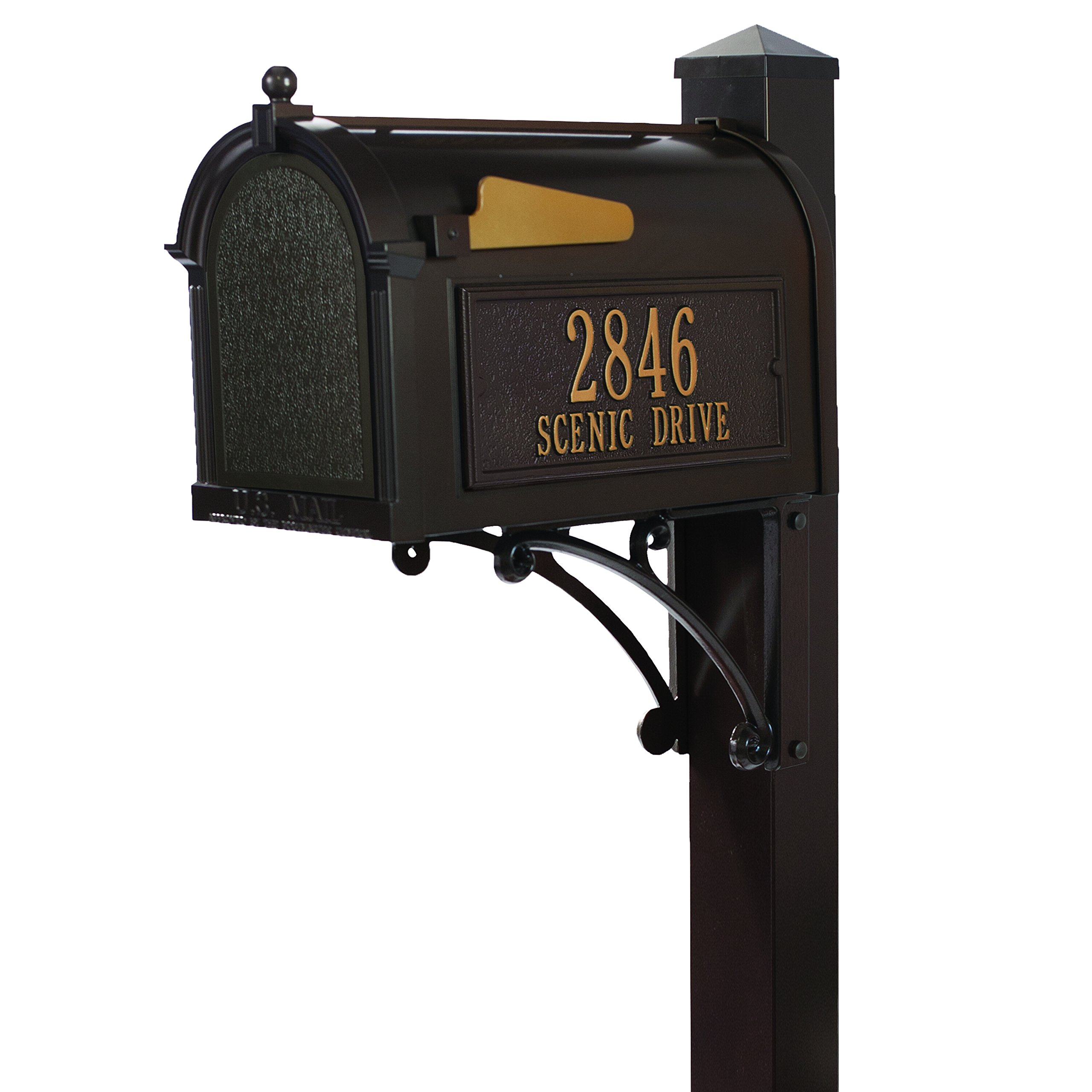 Whitehall Products 16306 Superior Mailbox Package, French Bronze