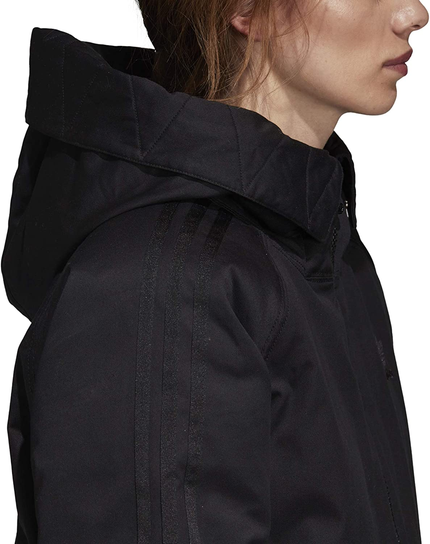 adidas Originals Womens Down Parka Jacket 12 Black