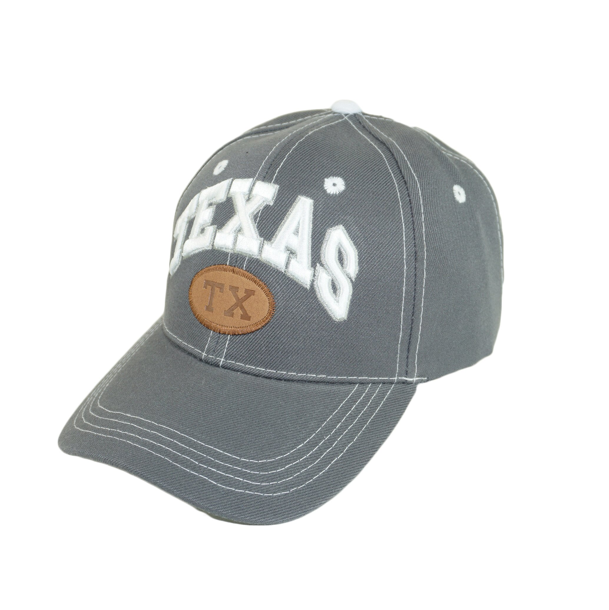 Bingoo Texas State Embroidery Hat Adjustable Texas Independent Lone Star Baseball Cap (Gray)