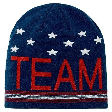 7831cd26a9a Amazon.com   Genuine Stuff Team USA Olympic Games Scripto Cuffless Knit Hat    Sports   Outdoors