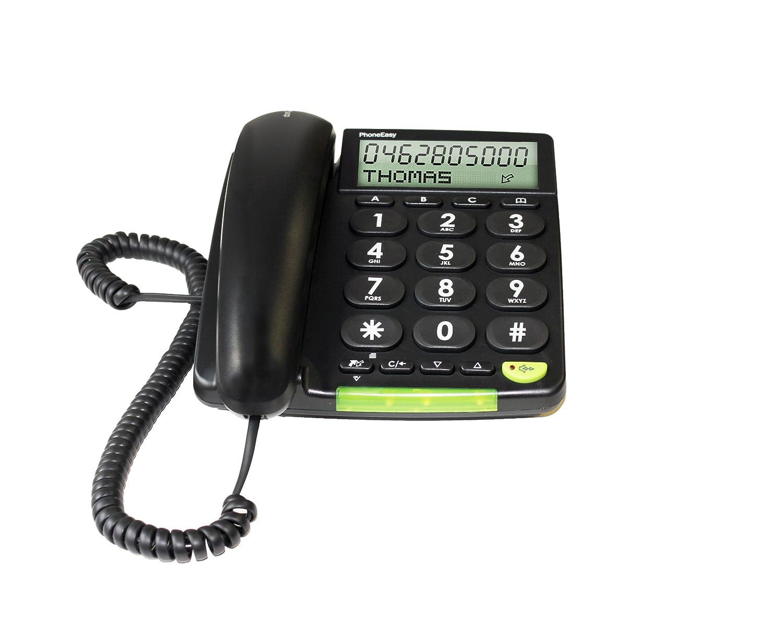 Doro PhoneEasy 312cs Schnurgebundenes Gro/ßtastentelefon mit gro/ßem Display schwarz