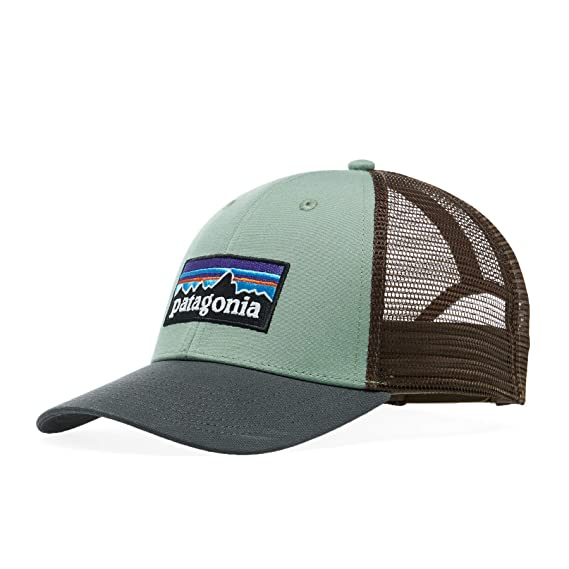 d036c1f867bd3 Patagonia Hats P-6 Logo LoPro Trucker Cap - Olive-Brown Adjustable ...