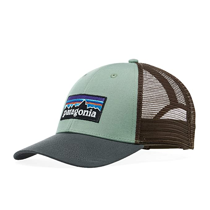 a197e2bf4bf3c Patagonia Hats P-6 Logo LoPro Trucker Cap - Olive-Brown Adjustable   Amazon.co.uk  Clothing