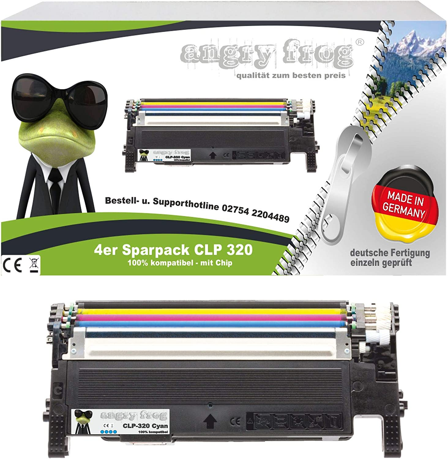 4 X Toner Made In Germany To Replace Samsung Clp320 Clp325 Clt K4072s Clt C4072s Clt M4072s Clt Y4072s Bürobedarf Schreibwaren