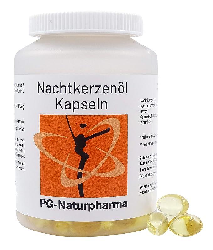 Aceite de onagra perlas - 150 cápsulas con 500mg de aceite de onagra y con vitamina E (prensado en frío) - ácidos grasos omega-6 y ácido ...