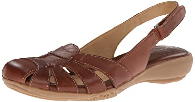 25e1006135a2 Naturalizer Cyrus Womens Tan Wide Leather Slingback Sandals Shoes Size UK  7.5