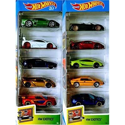 Hot Wheels 2020 and 2020 HW Exotics 5 Packs 10 Car Bundle Set: Toys & Games