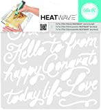 American Crafts We R Memory Keepers Heatwave Script Stencil, 7 x 7""