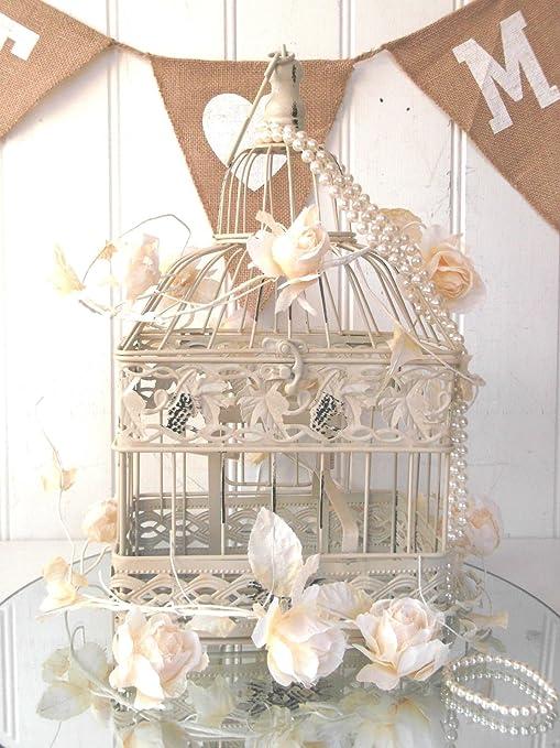 Estilo Vintage decorativo (diseño de pájaro jaula pajarera boda ...
