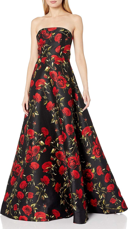 Mac Duggal Women's Long Floral Printed Ball Gown