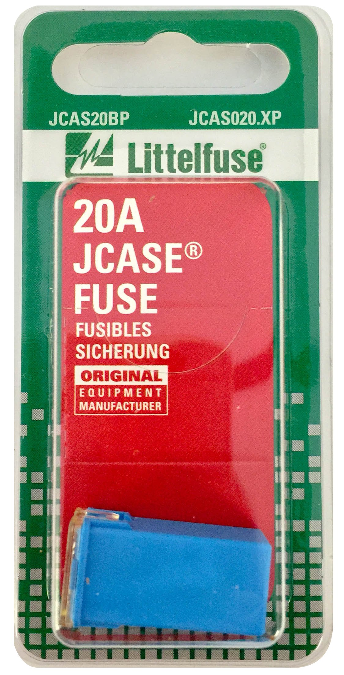 Littelfuse JCAS20BP JCASE 495 Series Automotive Type Cartridge Fuse by Littelfuse