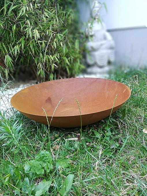 Zen Man - Recipiente para Hoguera (Metal Oxidado, 50 x 1 x 12, 5 cm): Amazon.es: Jardín