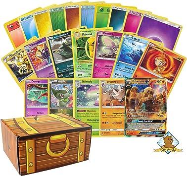 Caja de Cartas Pokemon – 300 Cartas Pokemon en Total – 200 de energía – 100 Cartas Pokemon – Entrenadores – Raras – Láminas – GX – Holos. Incluye Caja de Almacenamiento Golden Groundhog Treasure: Amazon.es: Juguetes y juegos