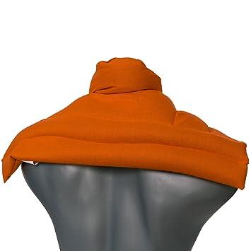 Saco cervical térmico de semillas | naranja | Cojín nuca, hombros ...