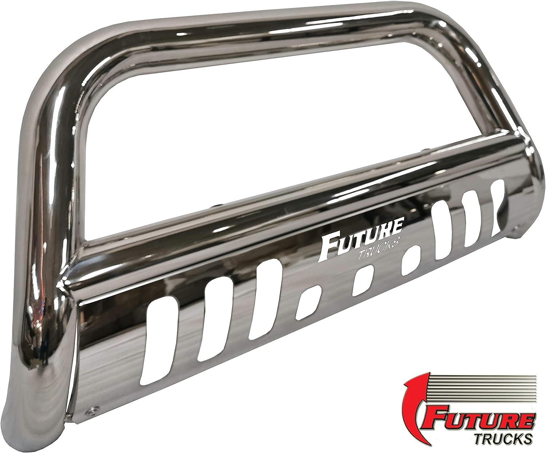 Black Future Trucks Bull Bar High Grade Steel Construction with Skid Plate /& LED Light Fits Ford F150 2004-20