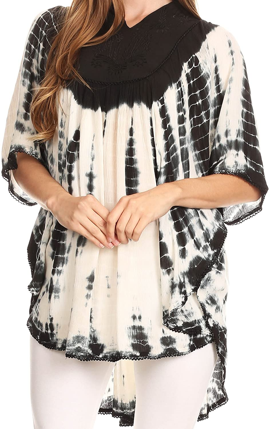 e067de18e2e2 100% Rayon Imported One Size Regular: [(Fits Approximate Top Size: US 0-4X,  UK 6-28, EU 34-56) Max bust size: 72 inches (182.8cm), Length: 32 inches ...