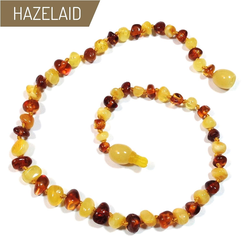 Hazelaid (TM) 14' Pop-Clasp Baltic Amber Milk & Cognac Necklace