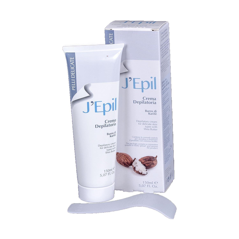 J epil Crema depilatoria Manteca de Karité para pieles sensibles, 150 ml: Amazon.es: Salud y cuidado personal