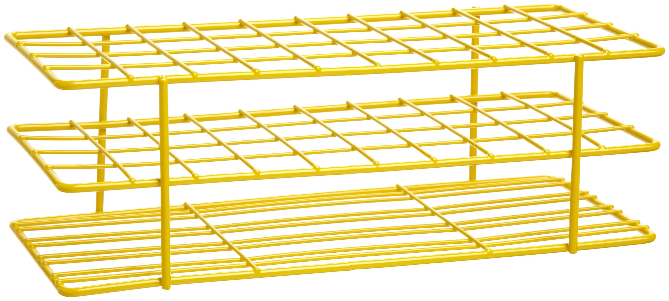 Bel-Art F18762-0002 Poxygrid Test Tube Rack; 16-20mm, 40 Places, 9⁹/₁₆ x 4¹/₄ x 3¹/₄ in., Yellow by SP Scienceware