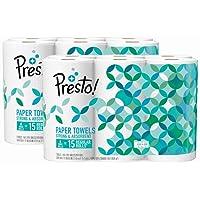 Amazon Brand - Presto! Flex-a-Size Paper Towels, Huge Roll, 12 count
