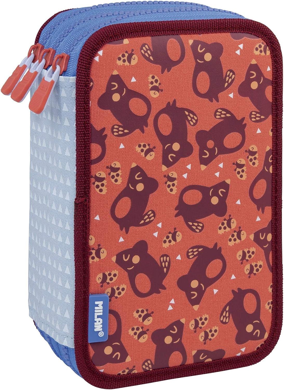MILAN Plumier 3 Pisos Con Contenido Net&lit Rosa Estuches, 20 cm, Rosa: Amazon.es: Ropa y accesorios