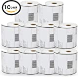 """10 Rolls Dymo 1744907 Compatible 4XL Internet Postage Extra-Large 4"""" x 6"""" Shipping Labels,1 roll of 220"""