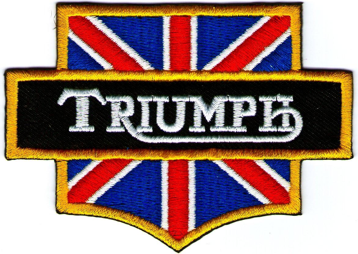 Amazon Triumph British Flag Motorcycles Logo Sign Symbol Emblem