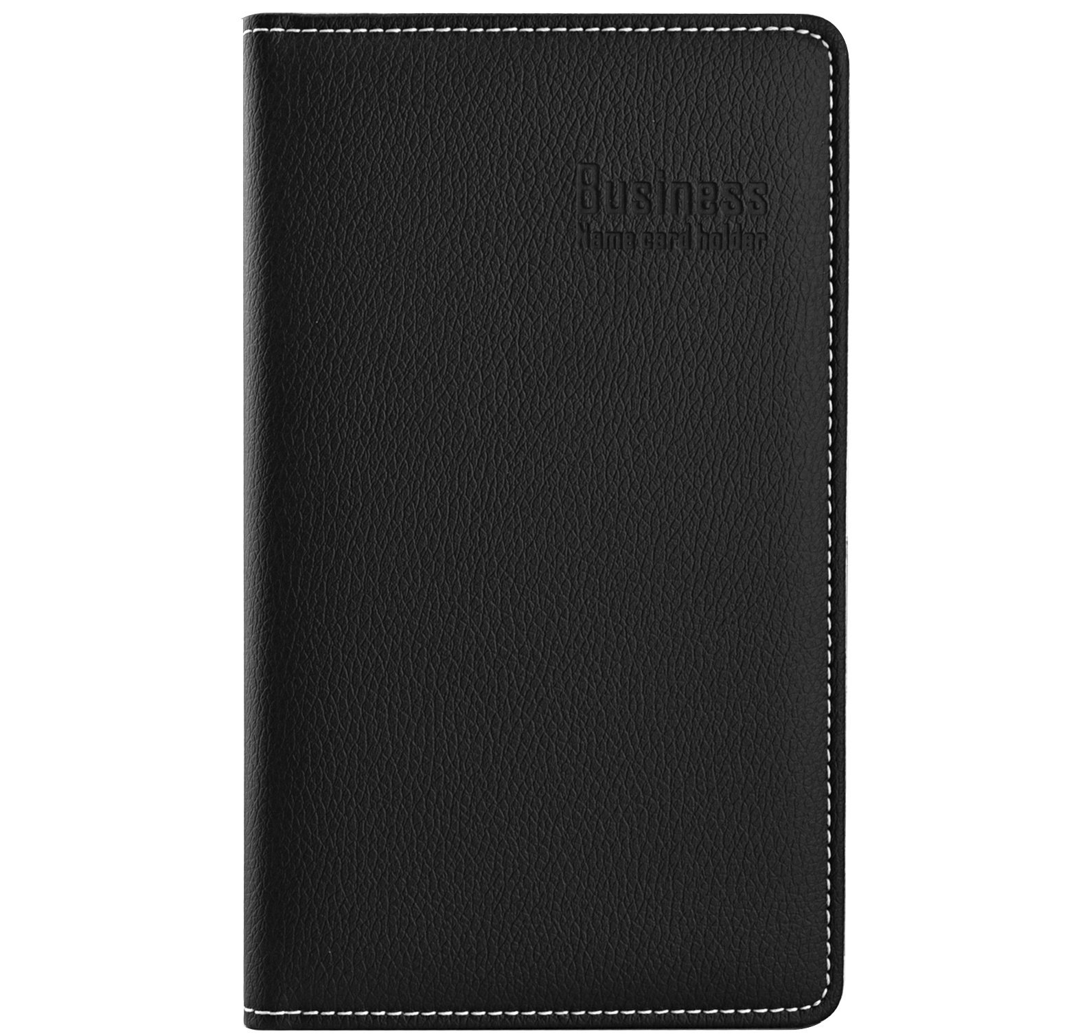 Maxgear Professional Leather Business Card Book Holder, Business Card Organizer, Name Card Book Holder -Holds 180 Cards Black