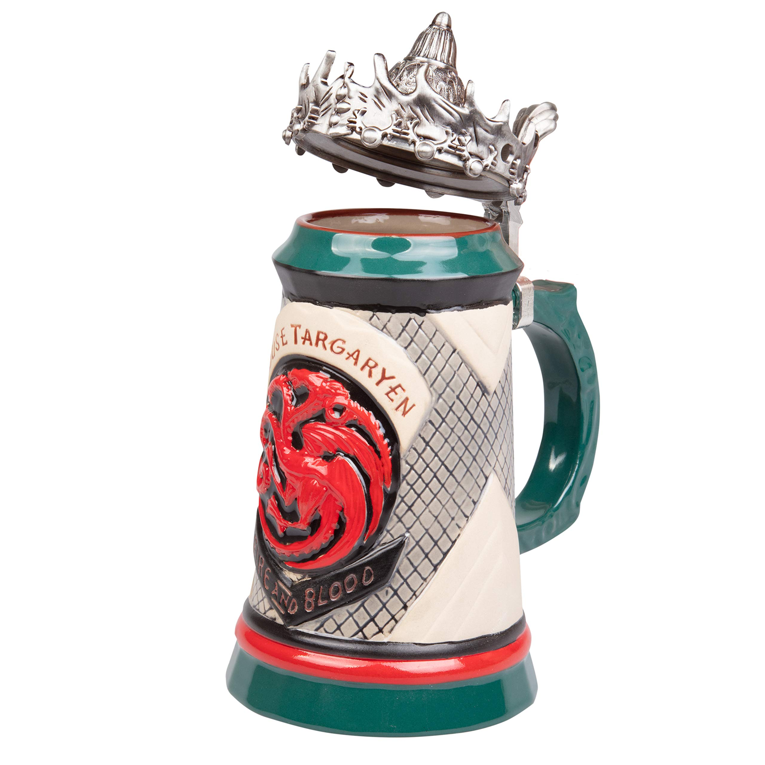 Game of Thrones House Targaryen Stein - 22 Oz Ceramic Base with Pewter Baratheon Crown Top by Game of Thrones (Image #2)