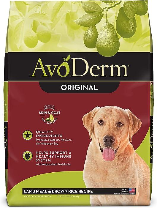 AvoDerm Natural Dry & Wet Dog Food, For Skin & Coat, Lamb & Rice Formula