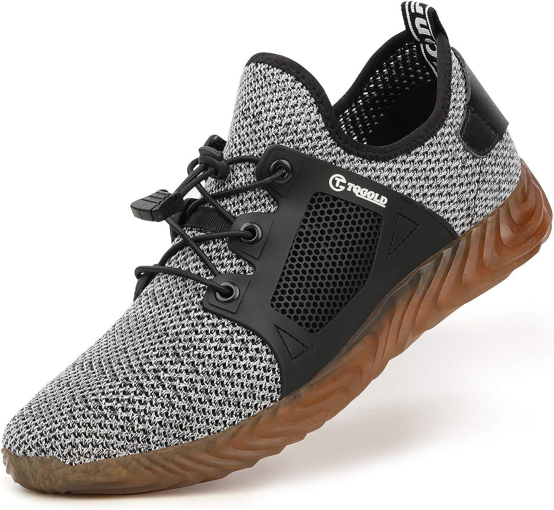 AONEGOLD Zapatillas de Seguridad Hombres Ligeros Transpirables ...