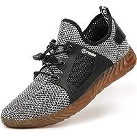 AONEGOLD Zapatillas de Seguridad Hombres Ligeros Transpirables Calzado Seguridad Deportivo Mujer Puntera de Acero S3…